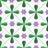 几何花卉无缝的样式 免版税图库摄影