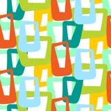 几何葡萄酒50s无缝的样式 免版税库存图片