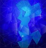 几何蓝色形状传染媒介背景 免版税库存照片