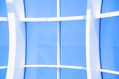 几何蓝色抽象背景 免版税库存图片