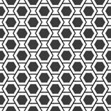 几何蜂房裂片无缝的纹理 图库摄影