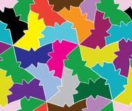 几何蝴蝶的无缝的爱样式 库存例证