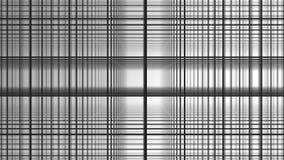 几何螺旋有白方块抽象运动白色背景 黑线栅格任意地翻转与白色 向量例证