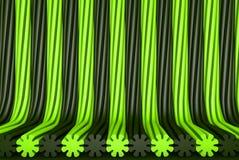 几何表面由被挤压的花形状,节日概念-抽象背景的绿色现代3D形成了例证 库存例证