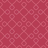 几何装饰品 红色和淡粉红的无缝的样式 免版税库存照片