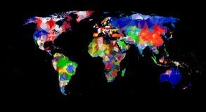 几何设计世界地图 免版税图库摄影