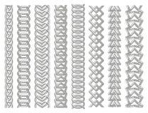 几何边界集合 链子由不可能的形状做成 线艺术 皇族释放例证