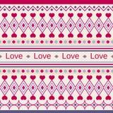 几何逗人喜爱的样式以题字爱 向量例证