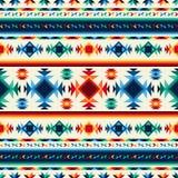几何部族抽象无缝的样式的阿兹台克人 免版税库存图片
