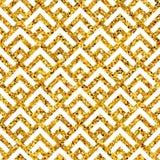 几何金子pattern7 免版税库存照片