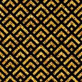 几何金子pattern7 库存图片