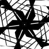 几何锋利概略的样式 抽象派黑色白色 皇族释放例证