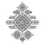 几何阿兹台克样式 部族纹身花刺样式可以为纺织品,瑜伽席子,电话盒,地毯使用 免版税库存图片