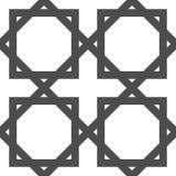 几何阿拉伯伊斯兰教的无缝的样式 库存图片