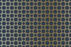 几何阿拉伯无缝的样式 伊斯兰教的金黄纹理 回教装饰品背景 向量例证