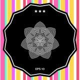 几何阿拉伯样式 徽标 您设计的要素 免版税库存照片