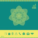 几何阿拉伯样式 徽标 您设计的要素 库存照片