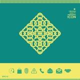 几何阿拉伯样式 徽标 免版税库存图片