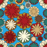 几何马赛克无缝的花卉样式 上色模式可能的变形多种向量 图库摄影