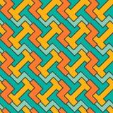 几何马赛克样式 传染媒介无缝的摘要 库存照片