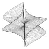 几何Wireframe形状传染媒介 图库摄影