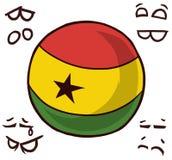 几内亚国家球 库存例证
