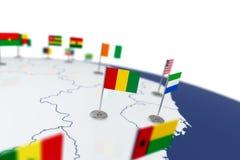 几内亚旗子 图库摄影