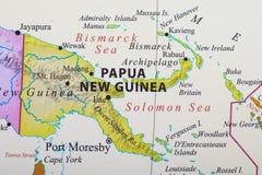 几内亚映射新的巴布亚 免版税库存图片