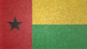 几内亚比绍旗子的原始的3D图象 库存图片
