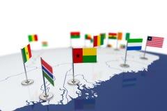 几内亚比绍旗子 图库摄影