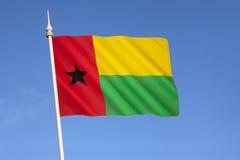 几内亚比绍的旗子 库存图片