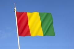 几内亚的旗子 图库摄影