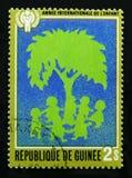 几内亚致力了于孩子的年, serie,大约1980年 免版税库存照片