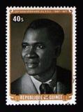 几内亚, serie的民主党第30周年,大约1977年 库存照片