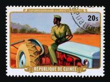 几内亚, serie的民主党第30周年,大约1977年 免版税库存照片