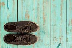 几双葡萄酒鞋子 免版税图库摄影