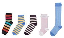 几只多彩多姿的袜子 免版税库存照片