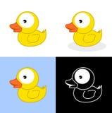 几只鸭子浴 库存图片