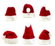 几圣诞老人盖帽 库存照片