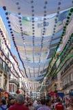 几天庆祝和党在马拉加安大路西亚西班牙 免版税图库摄影