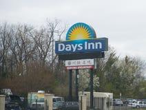 几天旅馆旅馆标志  库存图片