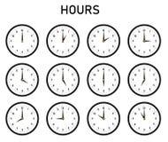 几小时 向量例证
