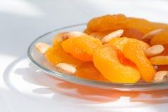 几干果、杏干和杏子种子 库存图片