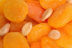 几干果、杏干和杏子种子 免版税图库摄影