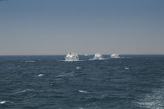 几条游艇 免版税库存照片