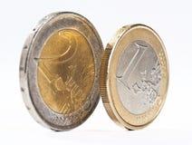 几枚欧元硬币 图库摄影