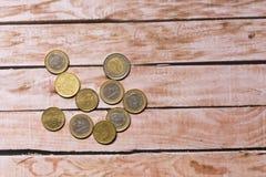 几枚硬币 图库摄影