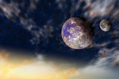 几的行星宇宙 皇族释放例证