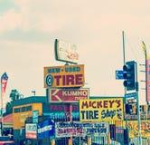 几车库签到L A 免版税库存图片