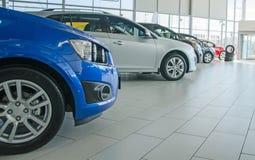 几辆新的汽车 免版税库存图片